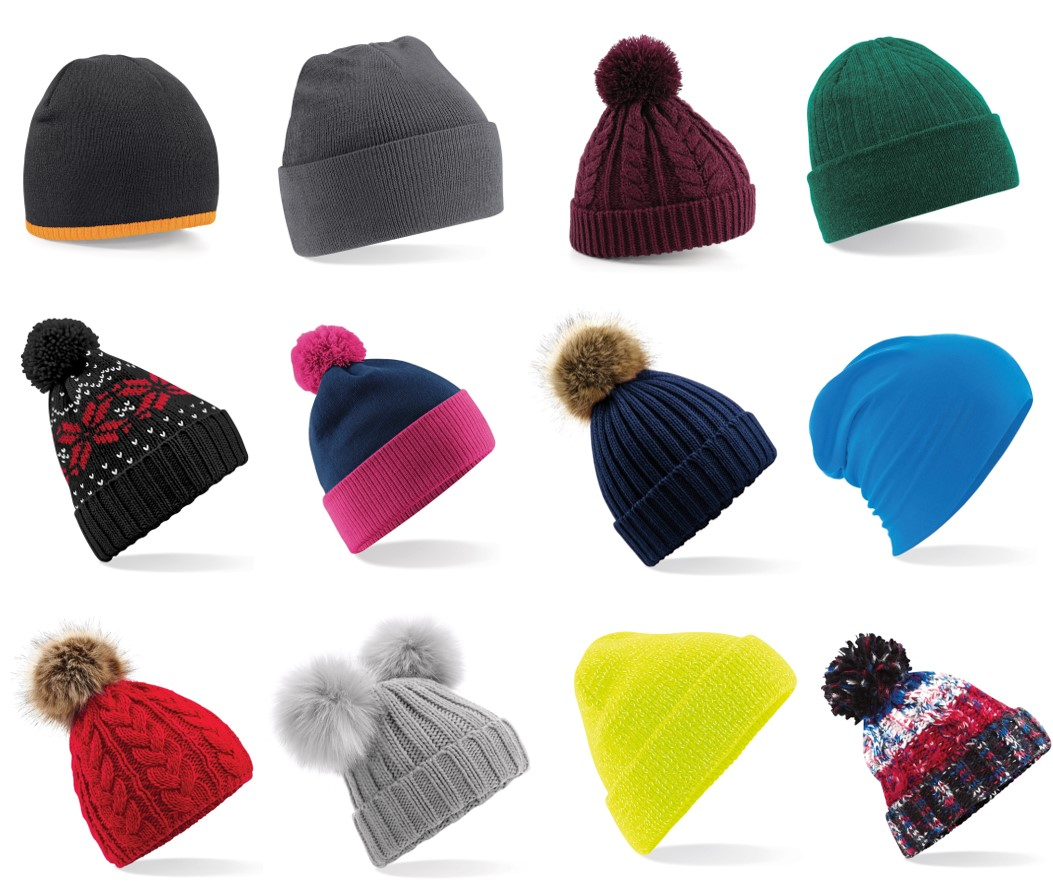 Branded Beanies and Bobble Hats