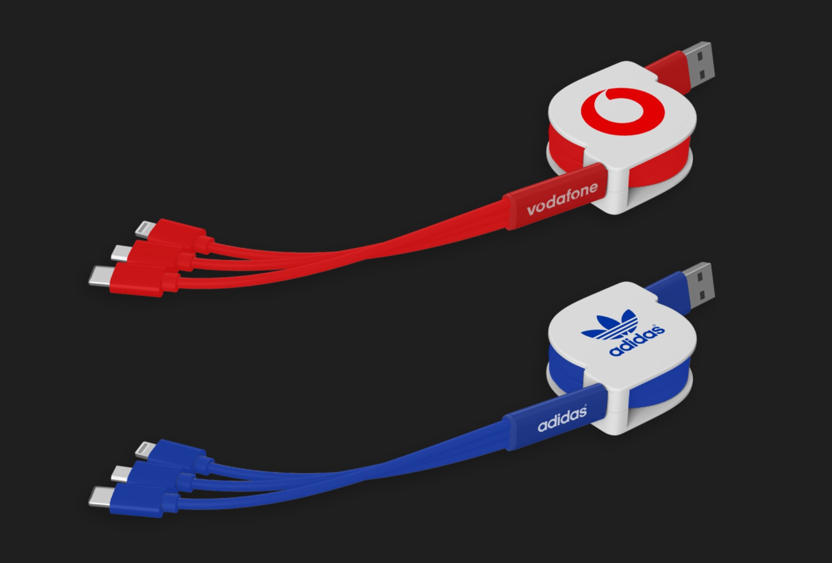 Retractable 3in1 Charging Cable