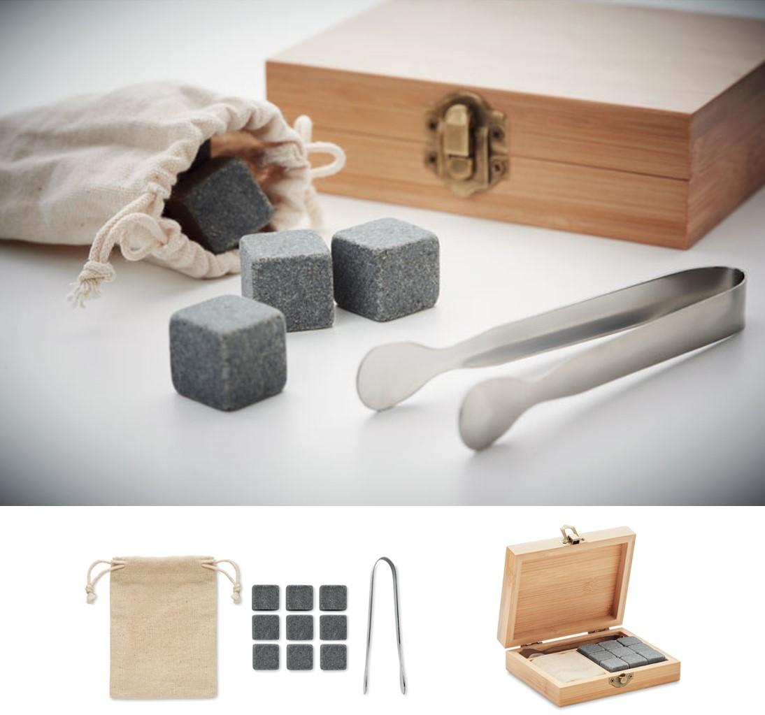 Whisky Stone Set in Bamboo Presentation Box